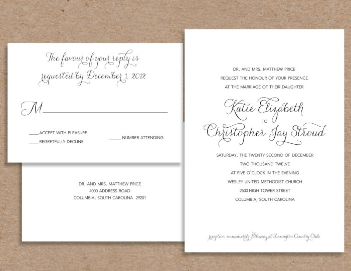 modern wedding invitation wording samples