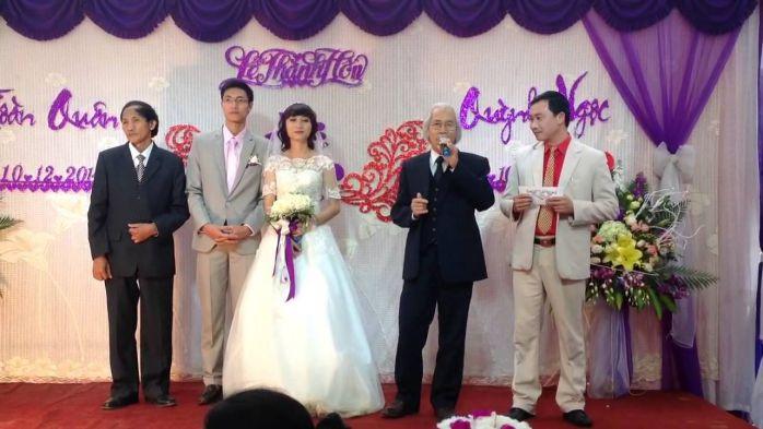 phát biểu trong lễ cưới giao nhận dâu