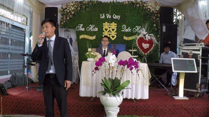 phát biểu trong lễ cưới tại hôn trường nhà gái