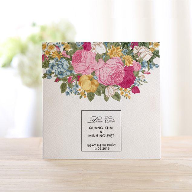 Thiệp cưới The Simple có những phong cách nào?